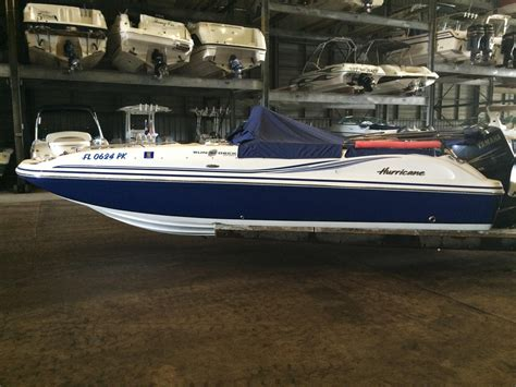 used hurricane deck boats for sale florida 2012 used hurricane 211 sds deck boat for sale 28 995