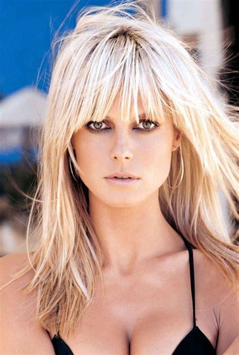 instructions for heidi klum haircut 25 best ideas about blonde hair bangs on pinterest hair