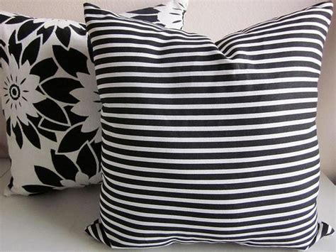 black and white striped pillow black and white striped pillow cover retro throw pillow
