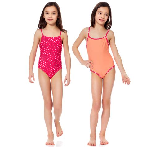 little girl models ages 4 12 for swimsuit hot girls pack of 2 swimsuits girls age 4 to 12 years kiabi 8 00