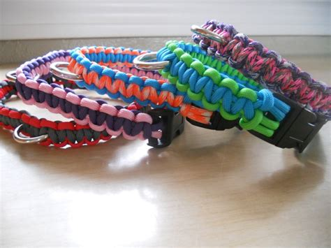 paracord craft projects diy paracord doggie collars can make real bracelets