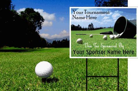 Golf Tee Signs Golf Sponsor Sign Template