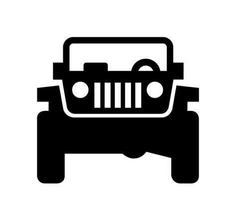 Black Jeep Front Logo Jeep Logoclose Up Open