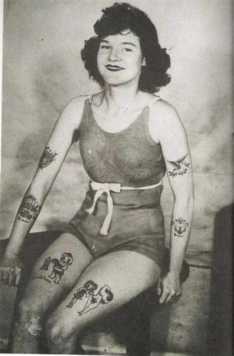 retro photos vintage photos of tattooed women give a historical look at