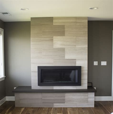 limestone tile fireplace refined contemporary remodel pental granite and