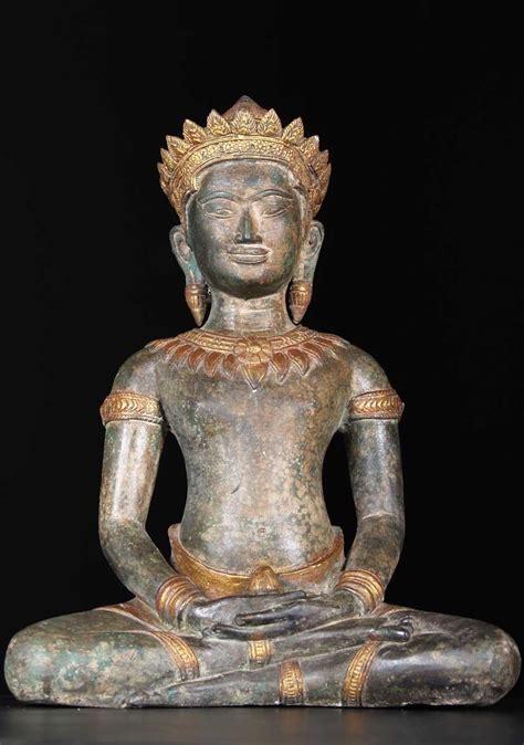 sold khmer meditating buddha statue 19 5 quot 68t46 hindu