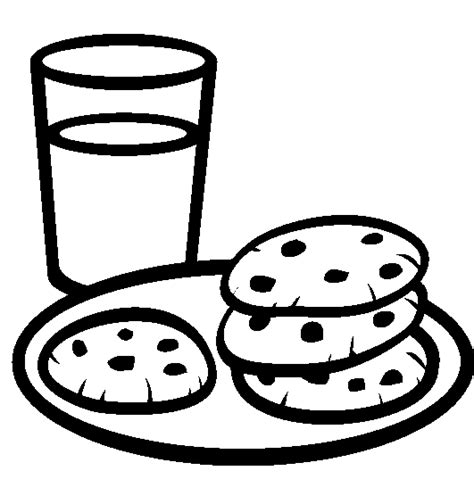 coloring page cookies a plate of cookies with a glass of milk coloring pages