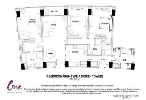 floor plan la one shangri la place north tower individual floor plans