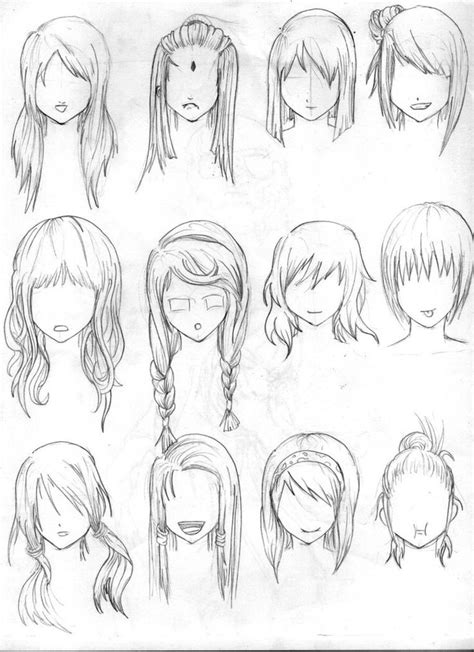anime hairstyles female images 42 best images about anime hair styles on pinterest