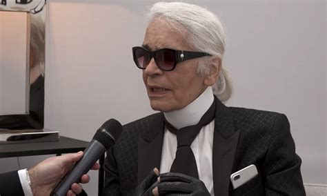 Karl Lagerfelds Own Brand Is Set To Expand by Karl Lagerfeld Explains Designing Chanel S Space Inspired Show