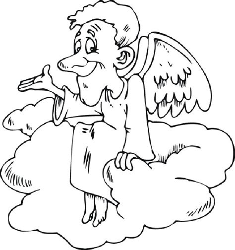 coloring page of angel gabriel free coloring pages of angel gabriel