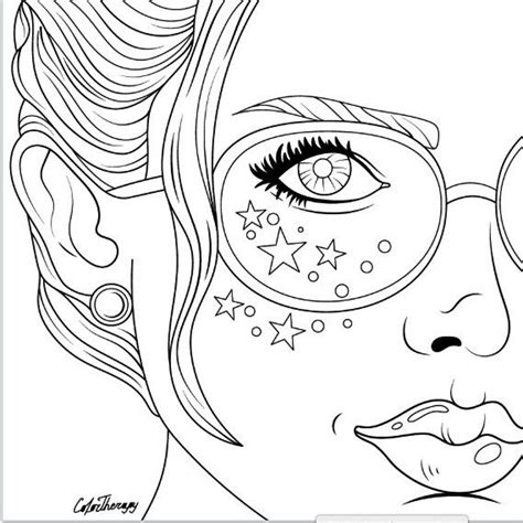 hipster girl coloring page 666 best coloring pages women images on pinterest