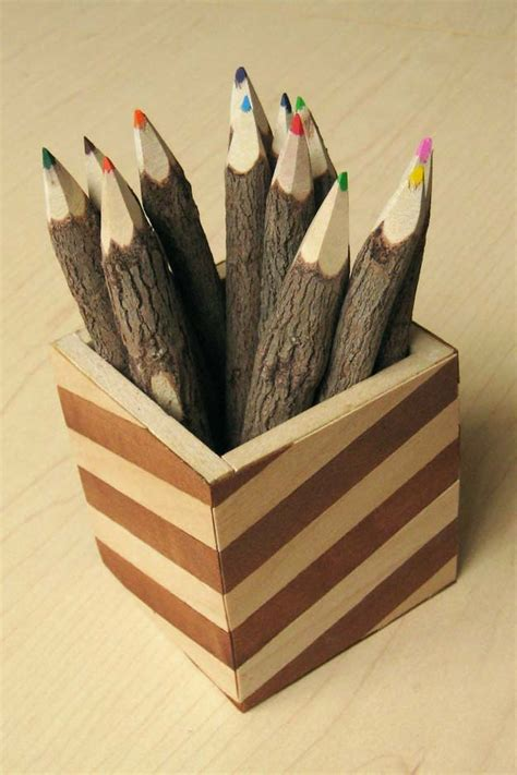 wooden pencil holder plans 40 fun diys for your desk diy projects for teens