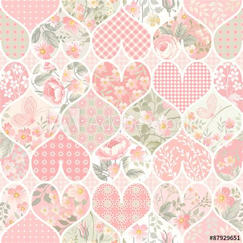 pastel pattern illustrator seamless patchwork pattern in pastel colors buy this