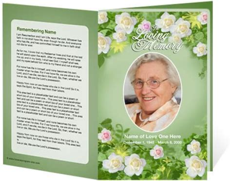 funeral bulletin template free 30 best images about funerals on