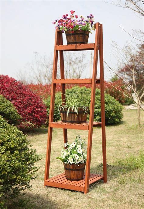 garden plant stand  tier tall shelf rack flower pot