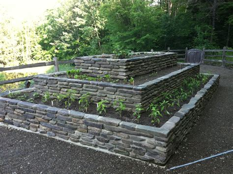 rock beds raised stone garden beds raised rock garden bed awaiting