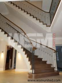 attractive two side support bespoke curved staircase