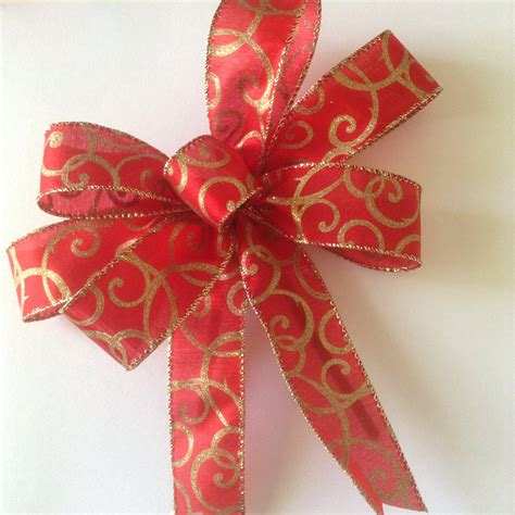 christmas bows red and gold bows decorative bows by