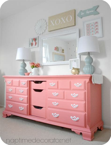 kids bedroom dresser sherwin williams begonia little girl to big girl room makeover reveal bedroom pinterest