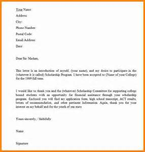 Letter Format For Scholarship Request 6 Letter For Applying Scholarship Ledger Paper