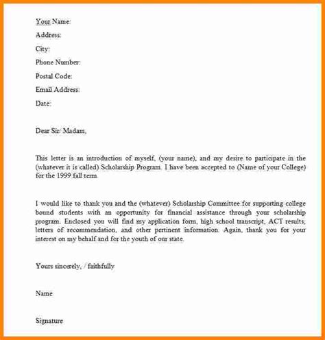 Letter Of Recommendation For Financial Scholarship How To Write A Letter Application Scholarship