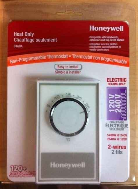 honeywell fan forced heater honeywell ct60a manual thermostat electric baseboard fan