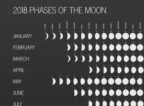 Calendar 2018 With Moon Phases 2018 Phases Of The Moon Accessories Better Living