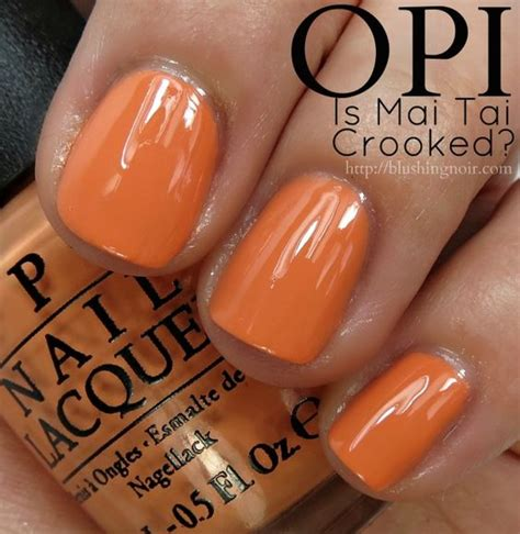 Is Mai Crooked opi is mai crooked nail swatches hawaii collection for 2015 we