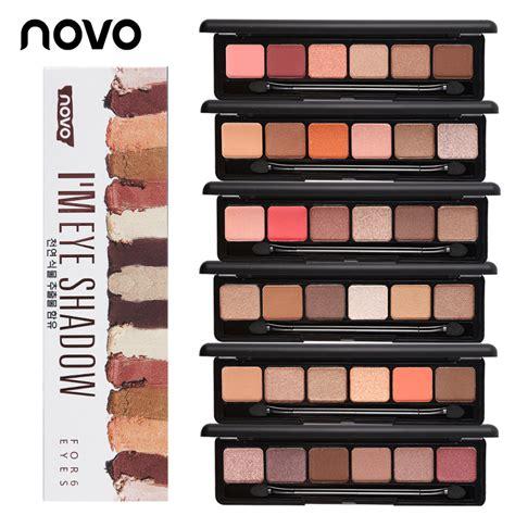Eyeshadow Novo novo brand eye makeup 6 color glitter eyeshadow palette shimmer powder matte eye shadow set make