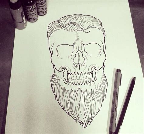 bearded skull tattoo bearded skull tattoos skull