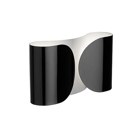 flos foglio wall light black 1966 panik design