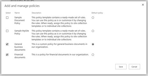 Create A Document Deletion Policy In Sharepoint Server 2016 Sharepoint Sharepoint Policies And Procedures Template