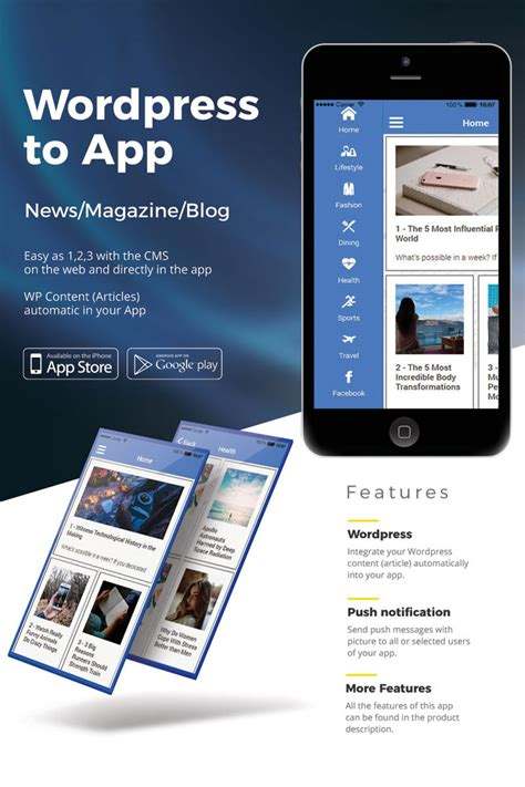 html templates for android wordpress news ios android app template 65139