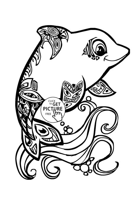 Beautiful Dolphin Coloring Page For Kids Animal Coloring Free Beautiful Coloring Pages