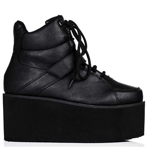 buy colorado creeper flatform platform trainer shoes black