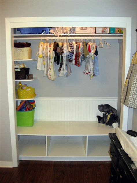 Nursery Wardrobe With Shelves by Nursery Closet Idea Also Like The Different Sized Paper