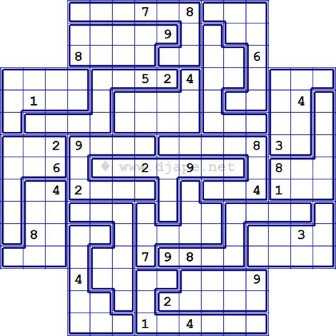 printable sudoku jigsaw puzzles 4 best images of free printable jigsaw sudoku puzzles