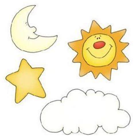 sol luna y estrellas imagui estrella sol luna y nube tiempo pinterest