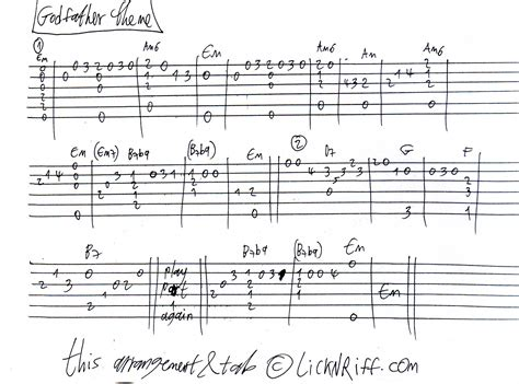 godfather themes godfather theme 171 lickn riff create your own guitar legacy