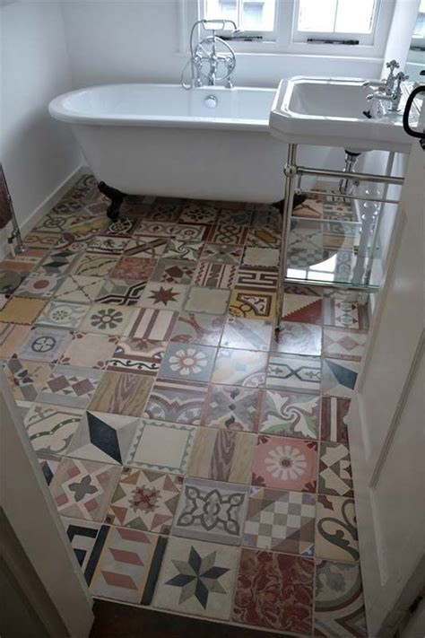 Patchwork Carpet Tiles - picture of encaustic patchwork tiles for a bold touch