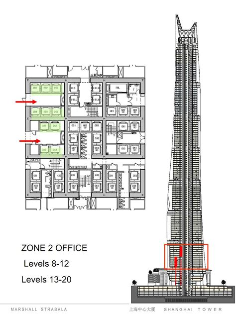 skyscraper floor plan world of architecture shanghai tower elevator system