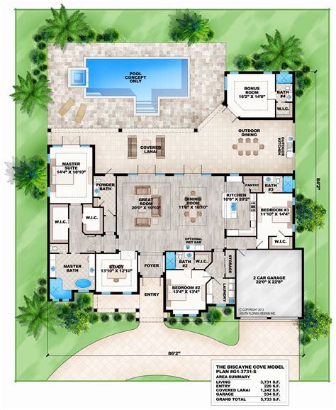 Favorite House Plans by One Story Floor Plans With Room