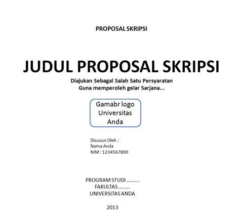 aturan dalam membuat judul skripsi contoh proposal skripsi buat anda ingin selesaikan tugas
