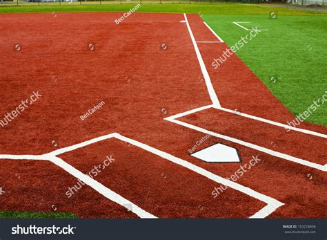 view home plate looking towards stock photo