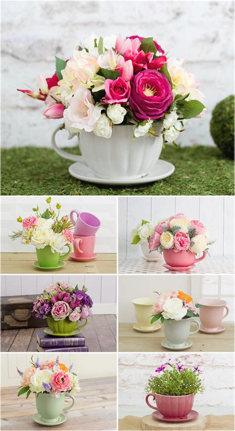 diy mothers day arrangements flower arranging pinterest floral teacup arrangements for mother s day 2016 shop