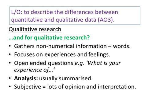 quantitative and qualitative data questionnaires interviews