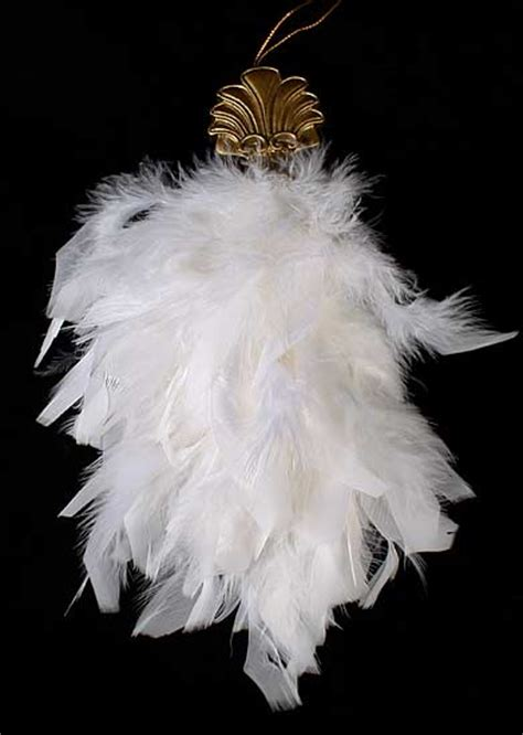 white feather ornaments 10 quot soft white feather tassel ornaments box of 12