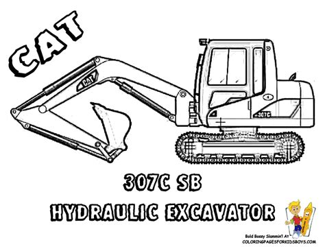excavator coloring page printable big man construction vehicle coloring construction
