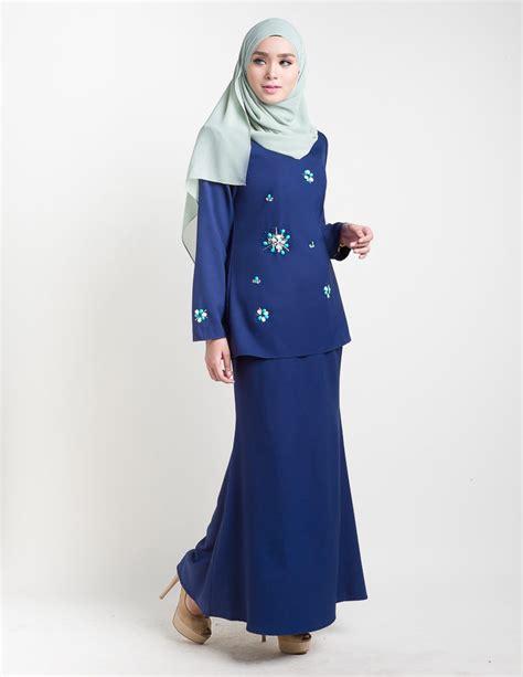 Baju Kurung Moden Biru Pink baju kurung moden adelia blue lovelysuri